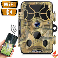 WiFi Trail Camera 1296p Campark Wildlife Camera Night Vision 20mp Hunting Game