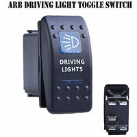 12V 20A Bar ARB Carling Rocker Toggle Switch Blue LED Car Boat Driving Light F1
