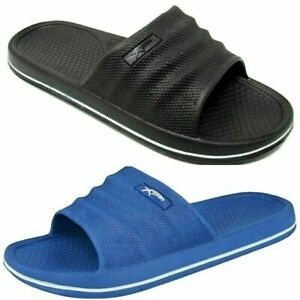 Mens Beach Pool Sliders Flip Flops Slip On Clogs Mules Shower Sandals Shoes Size
