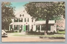 Red Cross House WESTFIELD MA Hampden County—Hand-Colored Vintage PC 1930s