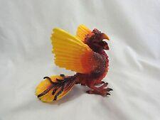 """PHOENIX BIRD Toy Figurine 6"""" Collectible Red Orange Yellow Schleich Germany"""