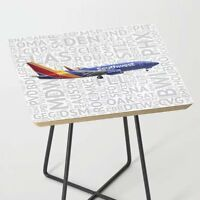Southwest Airlines Boeing 737 with Airport Codes - Accent Table
