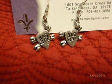 Heart & cross bones earrings