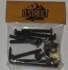 """D-STREET  1.5""""  Dome  / Allen Head Skateboard Longboard Fixings / Nuts & Bolts"""