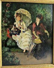 Original American Victorian Oil Painting  HARRY HUMPHREY MOORE  c. 1880  antique