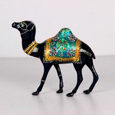 HAND PAINTED METAL BEAUTIFUL COLLECTIBLE CAMEL FIGURINES 1591-27
