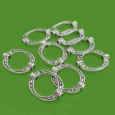 25 Metallperlen OVALE mit Loch 19mm antik silberfarbig Perlen nenad-design AN307