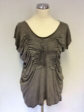 ALL SAINTS GREY PLEATED TILL TEE TOP SIZE 6
