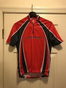 Parentini Colnago Short Sleeve Cycling Jersey White/Red/Black Size: L