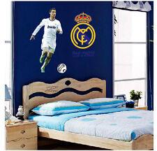 C Ronaldo Real Madrid Football Club Wall Stickers Vinyl  Décor Soccer