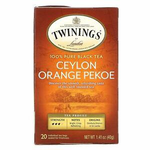 Twinings, Origins, Ceylon Orange Pekoe Tea, 20 Tea Bags, 1.41 oz (40 g), Kosher