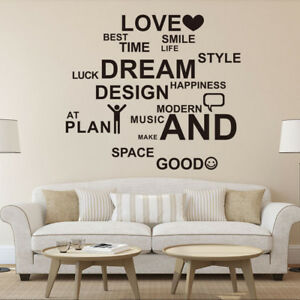 Family Love Art Words Quote Wall Stickers Mural Home Bedroom Living Room Decal