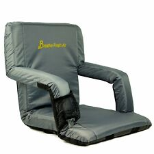 Memory Foam Stadium Bleacher Seat – Foam Chair with Back and Armrest Brand NEW