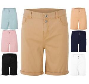 Ladies High Rise Turn Up Cotton Plus Size Curve Shorts