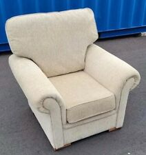 Lovely Comfortable Armchair Fabric Beige Immaculate Chair One Seat