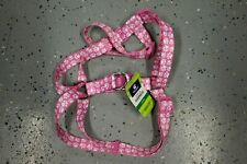 NWT TOP PAW Step In Pet Dog Walking Harness - Pink/White Dog Paw - Sz L
