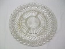 Anchor Hocking Depression Glass Waterford Crystal Waffle 5 part Relish Dish