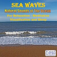 Sea Waves CD Ocean Sea Sounds CD for Relaxation, Meditation,Sleep and Tinnitus