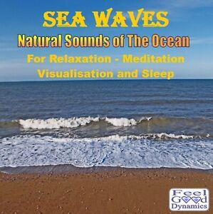Sea Waves CD Ocean Sea Sounds CD for Relaxation, Meditation,Sleep and Tinnitus