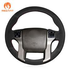 Black Suede Car Steering Wheel Cover for Toyota Land Cruiser Prado Tundra Tacoma