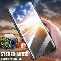 Pour Huawei Mate 40 Pro Lite Mate 30 Miroir étui cuir intelligent Folio coque