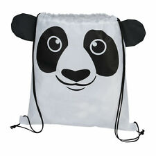 Panda Bear - Childrens Animal Draw String Backpack Sport Pack Tote Bag