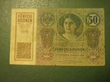 Austria banknote 50 Kronen 1914 !!!!!!!