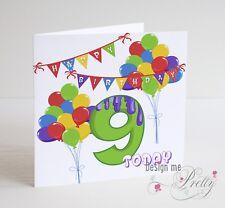 RAGAZZI Compleanno Carta-figlio nipote FRATELLO nipote EVO 1 2 3 4 5 6 7 8 9 10