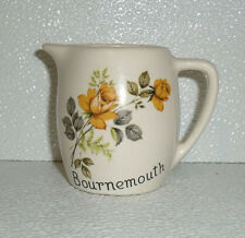 "New Devon Pottery Creamer Bournemouth 3"" Yellow Roses Vtg England"