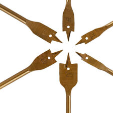 6PCS HSS Industrial Spade Paddle Flat Wood Boring Drill Bit Set 10-25mm US
