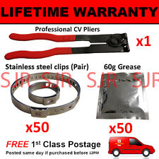 CV BOOT CLAMPS PAIR x50 CV GREASE x50 EAR PLIERS x1 GARAGE TRADE PACK KIT 4.50