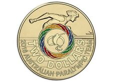 MULTI-COLOURED $2 Two Dollar Australian Issue RIO 2016 Paralympic Games Coin