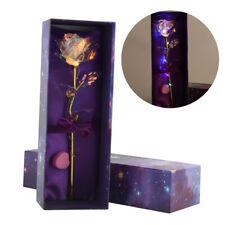 24K Gold Foil Rose Flower LED Luminous Galaxy Home Decor Valentine's Gift USA