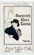 ROWNTREE'S ELECT COCOA: Celebrated posters advertising postcard (C29924)
