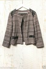 Cotton Blend Geometric Coats & Jackets for Women