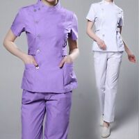 New Women Uniform Scrubs Set Medical Hospital Clinic Nurses Doctor Work Clothes