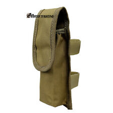 Airsoft Tactical Military Molle Universal Battery Pouch Accessory Torch Bag TAN
