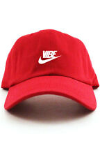 """Vibe"" Custom Unstructured Red w/ White Dad Hat New"