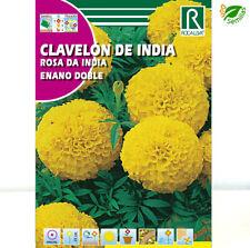 Clavelón de India Enano Amarillo ( Tagetes erecta )  4 g / 1.300 semillas flores