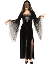 Mourning Maiden Adult Women Gothic Death Witch Halloween Costume-STD