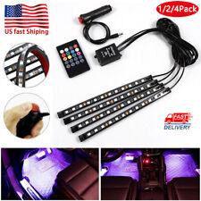 4X RGB 36LED Car Auto Interior Neon Atmosphere Strip Light Music Remote Control
