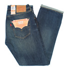 New $148 Mens Levis 501 Original Fit Selvedge Denim Jeans Zeppelin 501-2402