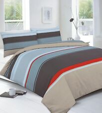 Night Zone Printed Bedlinen by Design Carter Chocolate Duvet Set Double Size