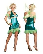 Tinkerbell Green Fairy Dreamgirl Fancy Dress Costume Size 8-10