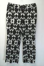 Ann Taylor LOFT Julie Women's Black & White Wide Leg Pants Trouser Size 12P