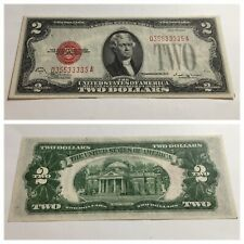 VINTAGE 1928-E $2 UNITED STATES NOTE TWO DOLLAR BILL JEFFERSON BINARY VINSON VNC