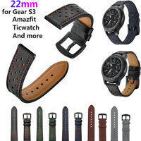Watch Band Correa de cuero genuino Pulsera de 22mm For Samsung Gear S3/Amazfit