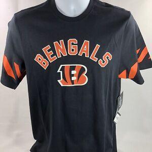 NFL Cincinnati Bengals Men's 47 Brand Tee Jet Black Orange Size Medium Football