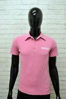 Polo DSQUARED Uomo Taglia Size XS Maglia Maglietta Camicia Shirt Man Cotone Rosa