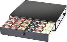 K Cup Storage Drawer Organizer Holder for 36 Keurig Coffee Pods Black Kitchen